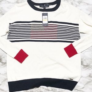 New! tommy hilfiger american flag sweater S